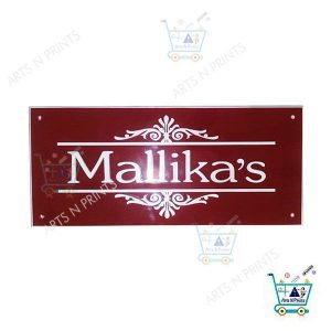 acrylic name plates for doors