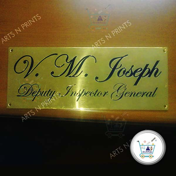 Laser Marking Personalised Name Plate